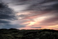 20 sunset over the dunes